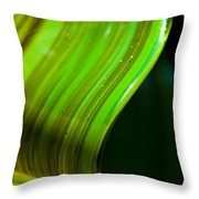 Lime Curl Throw Pillow