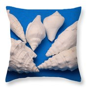 Lime Made From Seashells Throw Pillow