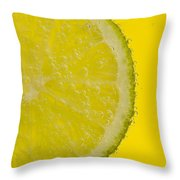 Lime Slice Soda 1 Throw Pillow
