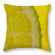 Lime Slice Soda 2 Throw Pillow