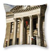 Limestone County Courthouse Alabama Throw Pillow