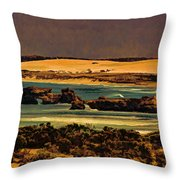 Limestone Sculptured By Nature Throw Pillow