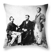 Lincoln & Secretaries, Throw Pillow