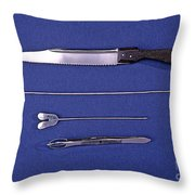 Lincoln Autopsy Instruments, 1856 Throw Pillow