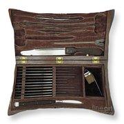 Lincoln Autopsy Kit, 1865 Throw Pillow