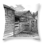 Lincoln Birthplace Throw Pillow