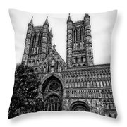 Lincoln Cathedral Facade Throw Pillow
