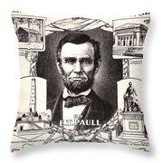 Lincoln Centennial, C1909 Throw Pillow