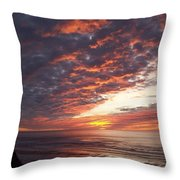 Lincoln City Sunset Throw Pillow