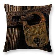 Lincoln Lock Throw Pillow