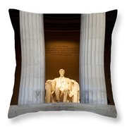 Lincoln Memorial Throw Pillow
