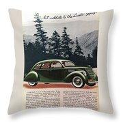 Lincoln Zephyr 1936 Throw Pillow