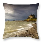 Lindisfarne Castle, Holy Island Throw Pillow by John Short