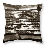 Line By Line Throw Pillow