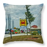 Line For The Swing Bridge Throw Pillow
