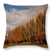 Line Of Trees Throw Pillow