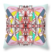 Linear Array Throw Pillow