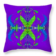 Linear Movement In Purple Throw Pillow