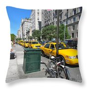Lined Up For Business Throw Pillow