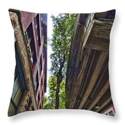 Lines And Trees Throw Pillow