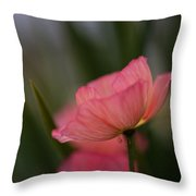 Lines Of Floral  Throw Pillow