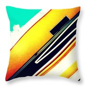 Lines Of The Overhang Throw Pillow