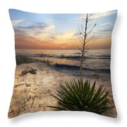 Linger By The Sea Throw Pillow