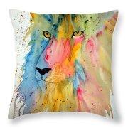 Lion Head 3 Throw Pillow