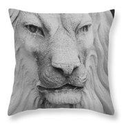 Lion In Stone Throw Pillow