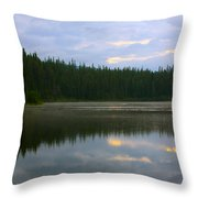 Lion Lake Montana Sunrise Throw Pillow