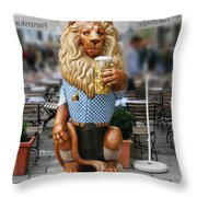 Lion Of Beer Throw Pillow