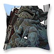 Lion Of Buddha Throw Pillow