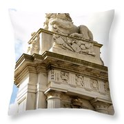 Lion On Pedestal Throw Pillow