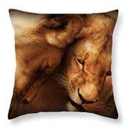 Lioness Love Throw Pillow