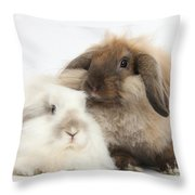 Lionhead-lop Rabbits Throw Pillow