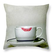 Lip Marks Throw Pillow