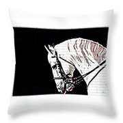 Lippizan Throw Pillow