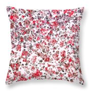 Lipstick And Eyeliner Abstract Throw Pillow
