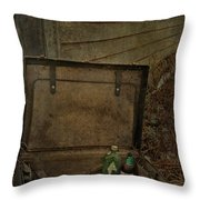 Liquid Letters Of Leaving  Throw Pillow by Empty Wall