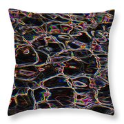 Liquid Luminescence Throw Pillow