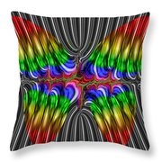 Liquid Metal Butterfly Throw Pillow