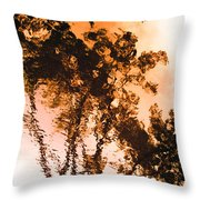 Liquid Tree Throw Pillow