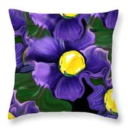 Liquid Violets Throw Pillow