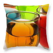 Liquor Glasses Throw Pillow