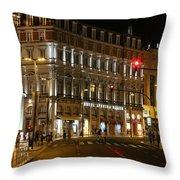 Lisbon Main Street Throw Pillow