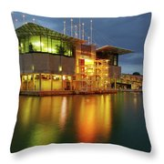 Lisbon Oceanarium Throw Pillow