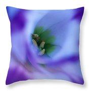 Lisianthus Throw Pillow by Kathy Yates