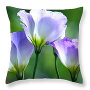 Lisianthus Number 5 Throw Pillow