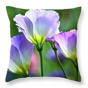 Lisianthus Number 6 Throw Pillow
