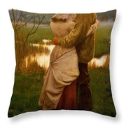 Listed Throw Pillow by William Henry Gore